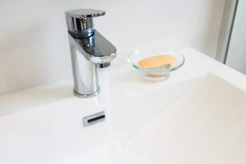 Grifo monomando para baño